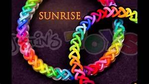 How To Make A Sunrise  Justinstoyshybrid Rainbow Loom