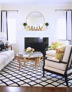 Bright, Black, And, White, Living, Room, Designed, By, Maggie, Stephens, Interiors