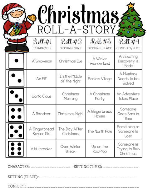 christmas roll a story christmas christmas writing