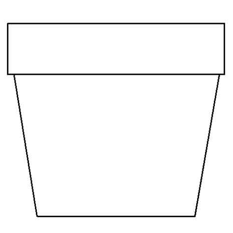 flower pot template pattern flower vase clipart clipart suggest