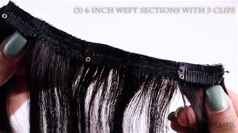 Natural Black Clip In Hair Extensions For Added Volume And