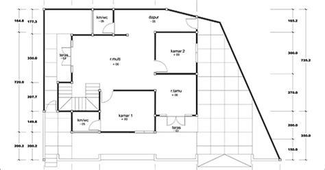 denah rumah minimalis dua lantai luas bangunan