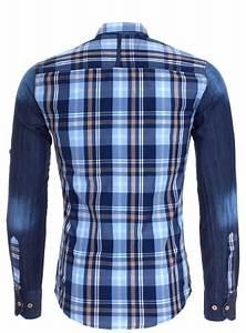 Chemise Homme A Carreau : chemise homme a carreau bleu pas cher 8127 pour 38 90 ~ Melissatoandfro.com Idées de Décoration