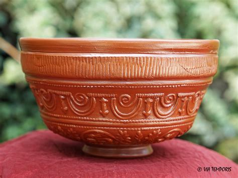 cuisine antique romaine ceramique gallo romaine bol sigillee du sud de la gaule dr 29 mod petit via temporis