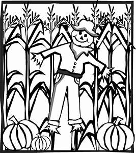 Corn Stalk Coloring Page - Coloring Home