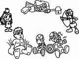 Coloring Avengers Arcade Chibi Cartoon Avenger Quicksilver Babies Printable Marvel Games Coloringbay Getdrawings Sheets Getcolorings Fortnite sketch template