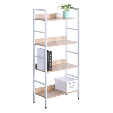 Heavy Duty Bookcase by Woltu 4 Shelf Bookcase Heavy Duty Wood Bookshelves Display