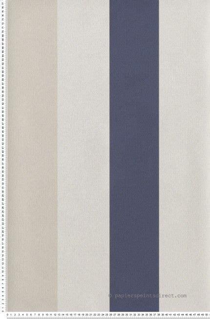 rayure large bleu marine et beige clair papier peint