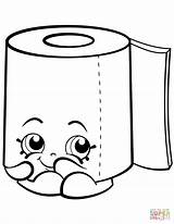 Toilet Paper Coloring Roll Shopkin Clipart Pages Shopkins Leafy Sweat Printable Potty Toliet Cartoon Colouring Sheets Supercoloring Drawings Toilets Tegninger sketch template