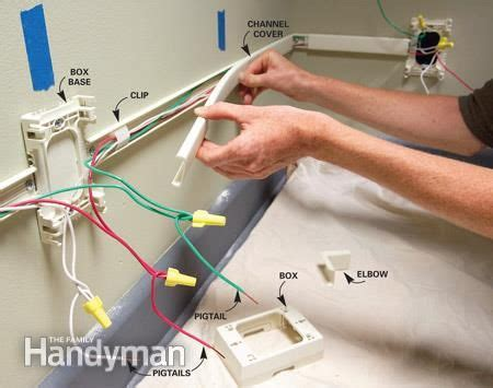 how to add outlets easily with surface wiring 2505