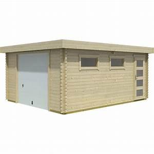 Garage Voiture En Bois : garage bois narva 1 voiture m leroy merlin ~ Dallasstarsshop.com Idées de Décoration