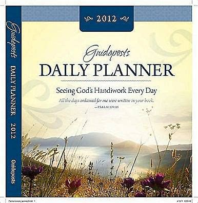 barnes and noble planners guideposts daily planner 2012 by guideposts hardcover