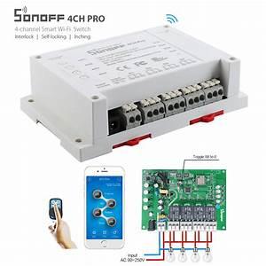 Smart Home Wlan : itead sonoff 4ch pro 4 gang 433mhz mounting wireless ~ Lizthompson.info Haus und Dekorationen