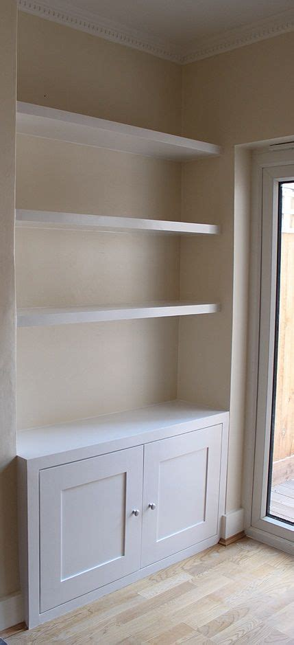 Built In Cupboards Next To Fireplace by Built In With Simple Shaker Doors Kindra Alcove