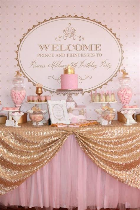 pink and gold birthday themes kara s ideas pink gold royal princess planning