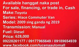 We Deliver  Lucenaautomall Available