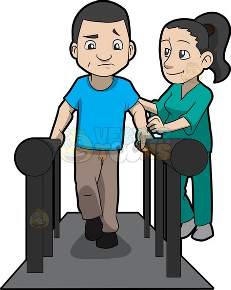 Physical Therapy Clip A Physical Therapist Helping A Patient Walk