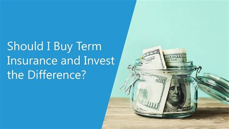 Exide life insurance company limited. Should I Buy Term Life Insurance and Invest the Difference ...