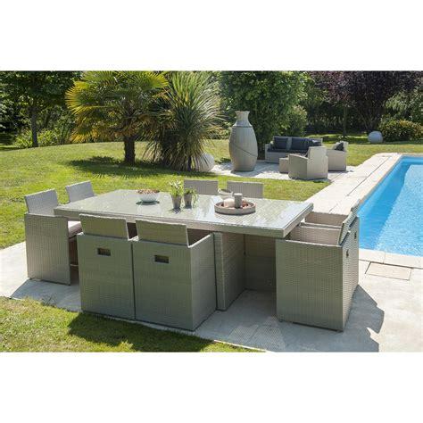 cuisine grise leroy merlin salon de jardin encastrable résine tressée gris 1 table 8 fauteuils leroy merlin