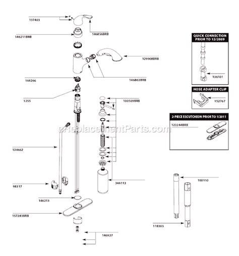 moen cabrb parts list  diagram ereplacementpartscom