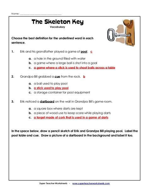 worksheets answer math with