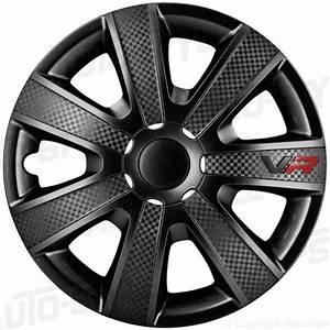 Enjoliveur Ford Focus : hjulsidor navkapslar wheel cover set 13 tommer vr sort carbon look logo 328 kr skruvat ~ Dallasstarsshop.com Idées de Décoration