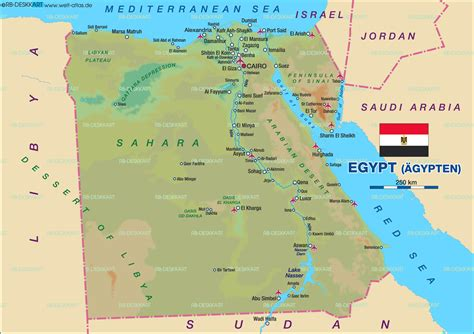 karte von aegypten aegypten karte auf welt atlasde