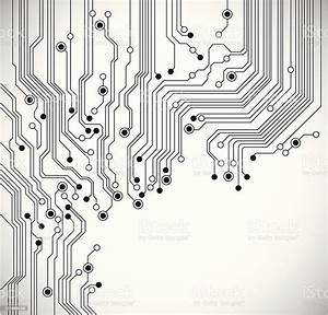 Circuit Board Abstract Background Stock Illustration
