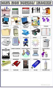 vocabulaire bureau 1 gratuit fle bureau vocabulaire fiches pédagogiques