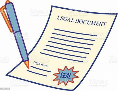 Legal Document Cartoon Documents Signing Clipart Illustrations