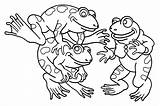 Coloring Frogs Pages Print Funny Printable Children Justcolor sketch template