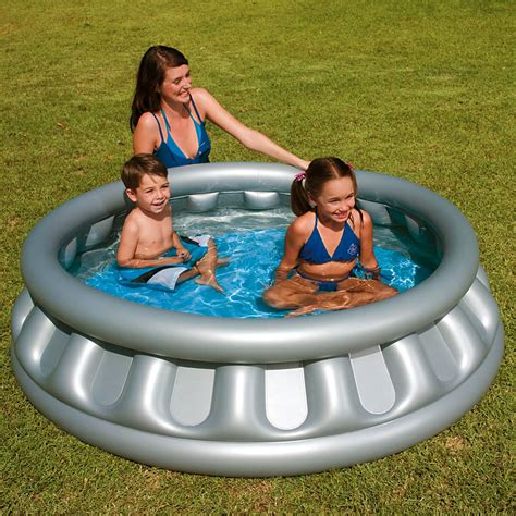 children s inflatable splash play silver space ship