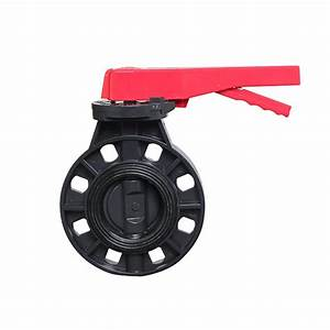 Dn150 Pvc Manual Butterfly Valve 6 Inch Plastic Manual