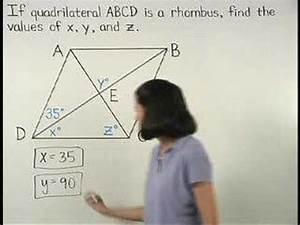 Properties Of A Rhombus - Mathhelp Com