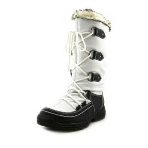 womens winter boots size 9 totes emily womens size 9 white boots display ebay