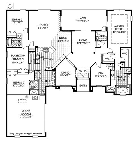 Mediterranean Style House Plan 4 Beds 3 5 Baths 2843 Sq