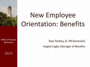 PPT - New Employee Orientation: Benefits PowerPoint ...