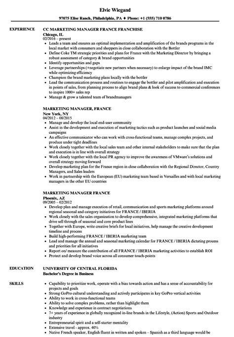 sample resume france templatescoverletterscom