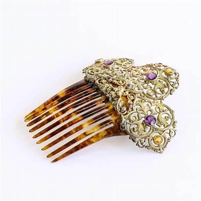Comb Hair Jeweled Jewelry 1890 Circa Vault