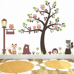 new large woodland animal nursery wall stickers featuring With enchanting ideas decals for kids walls