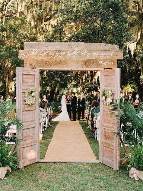 outdoor wedding ideas that are easy to modwedding
