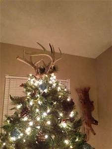 1000 images about Deer antler Christmas tree topper on