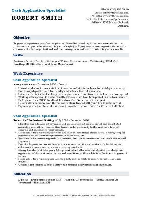 Business Analytics Resume by Application Specialist Resume Sles Qwikresume