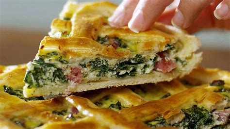 savoury tart  silverbeet pie recipes sbs food