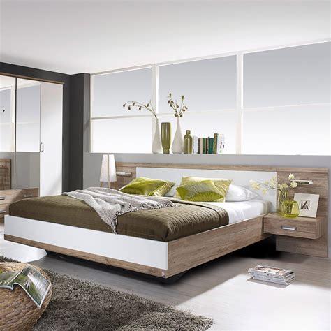 lit en 160x200cm avec 2 chevets t 234 te de lit maison et styles