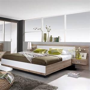 Lit en 160x200cm avec 2 chevets tete de lit maison et for Chambre a coucher adulte avec matelas thiriez prix