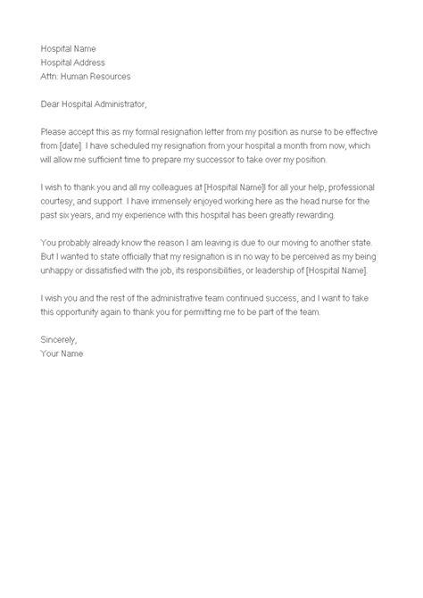 Sample Of Resignation Letter For Staff Nurse - How to write an of Resignation Letter for