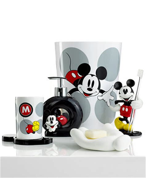 disney bath accessories disney mickey mouse collection bathroom accessories bed bath macy s