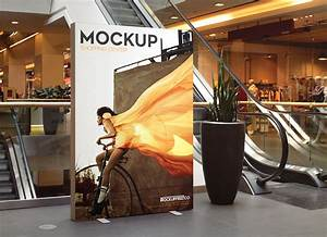 Free, Indoor, Advertising, Shopping, Center, Billboard, Mockup