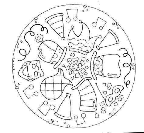 faschingsbilder zum ausdrucken fasching mandalas